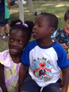 Maya and her cousin, Trenton, also adopted from Haiti.