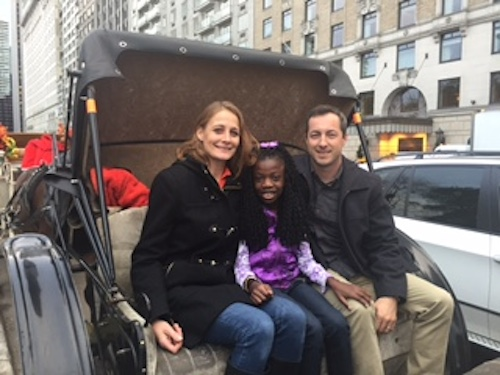 Mandy, Maya and Matt enjoying New York by carriage.