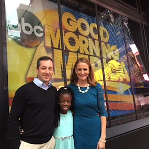 Matt, Maya and Mandy outside the Good Morning America studio in Times Square.