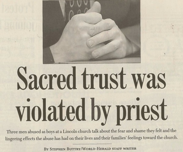 Headline from a 2002 story for the Omaha World-Herald