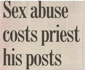 Sex abuse costs priest his posts