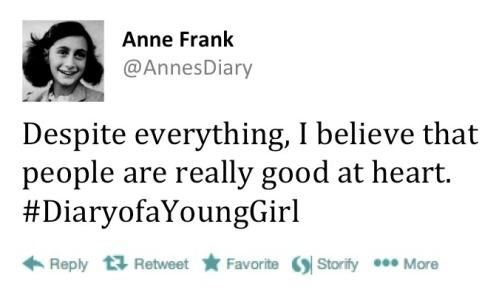Anne Frank tweet