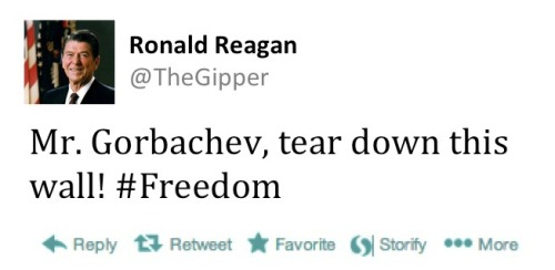 Ronald Reagan tweet