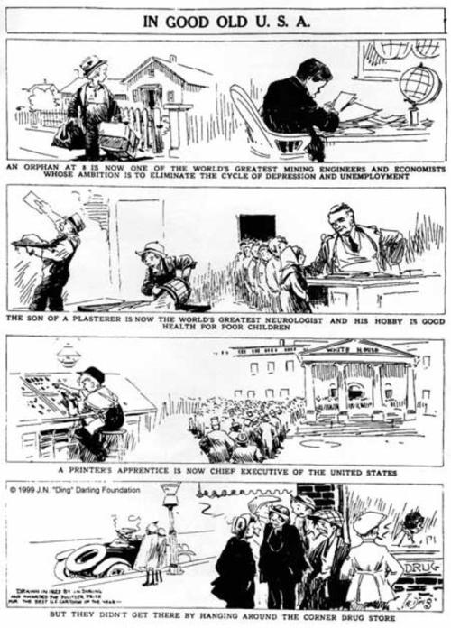 This cartoon won Darling the 1924 Pulitzer Prize for Editorial Cartooning.