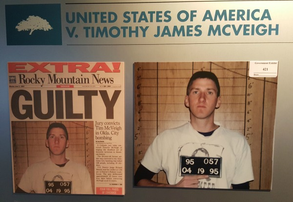 Displays at the Oklahoma City National Memorial & Museum recount the arrest, trial and execution of terrorist Timothy McVeigh.
