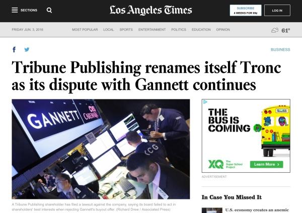 LA times tronc