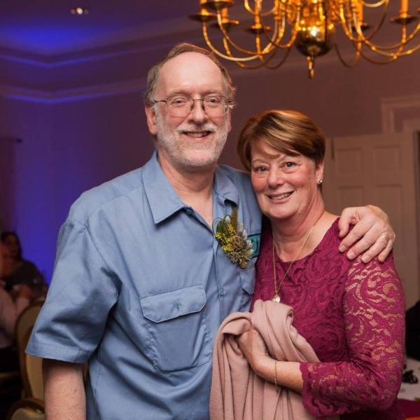 Mimi and me at Tom's wedding last October