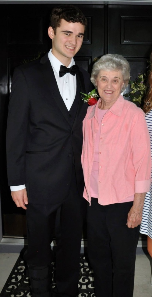 Christian Fallo and his grandmother, Patricia Maris.