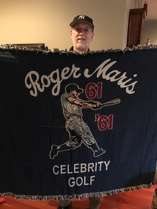 The blanket Patricia Maris gave me this week.